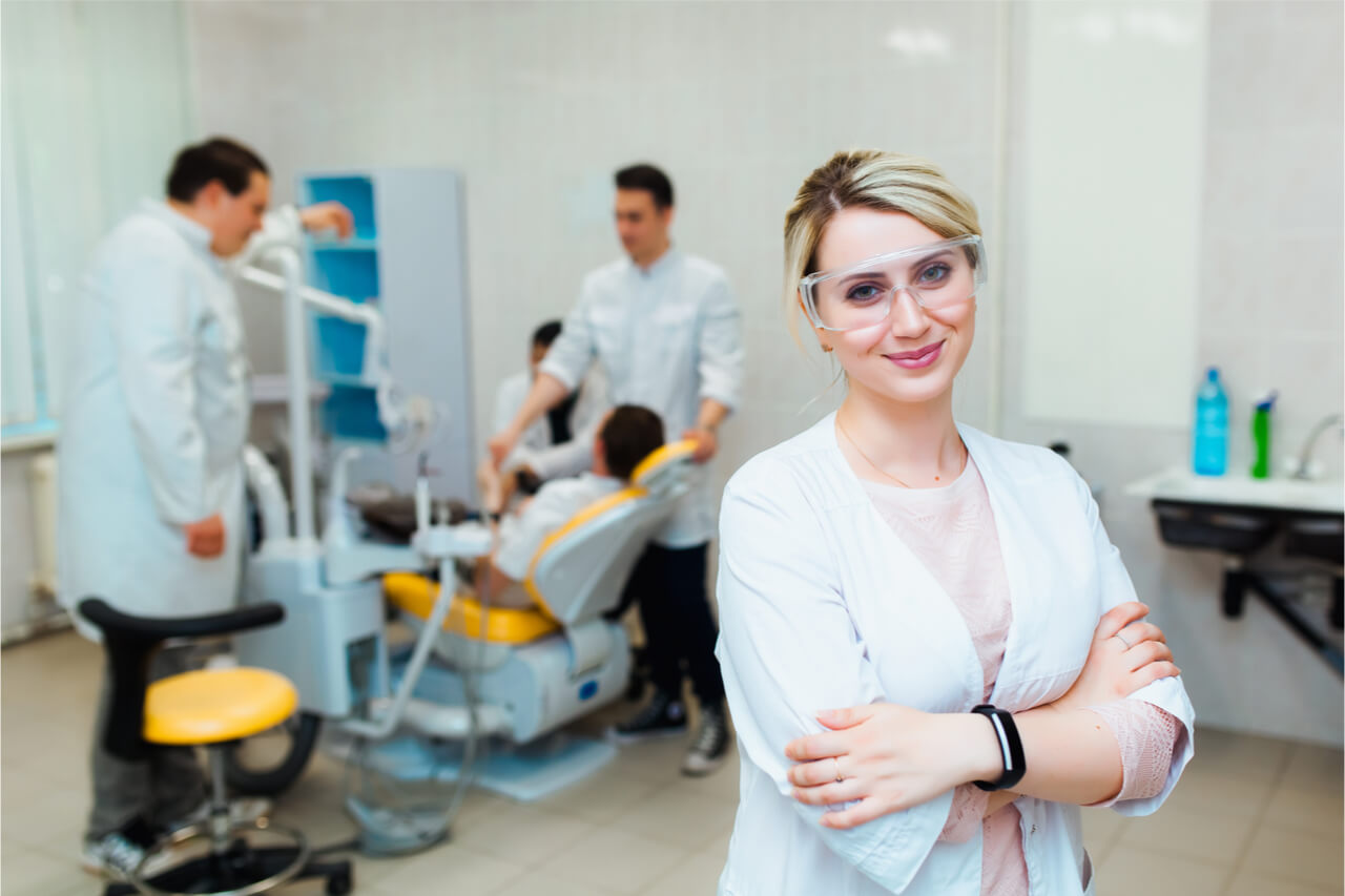Dentist, periodontist, and other dental professionals